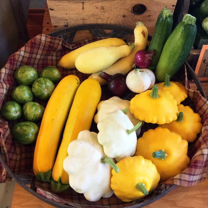 Fresh Summer vegetables at Breezy Acres in St. Albans